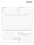 Carbonless Proposal Form #P103